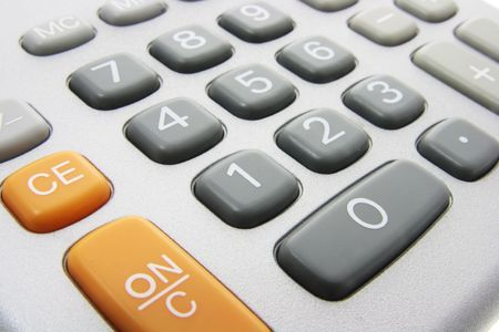 Close Up of Calculator Keys Stock Photo - 3534041