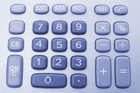 Close Up of Calculator Keys photo