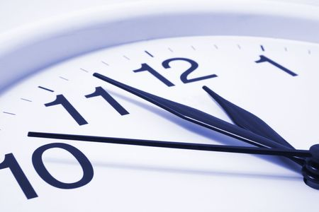 timely: Close Up of Wall Clock
