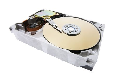 Hard Disk on Isolated White Background photo