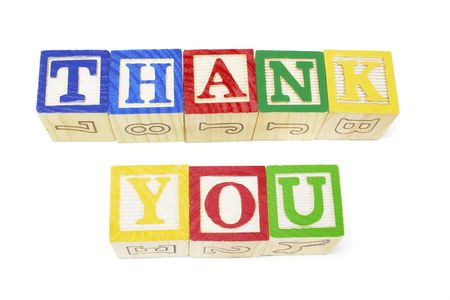 isol� sur fond blanc: Alphabets de Thank You isol�s sur fond blanc Banque d'images