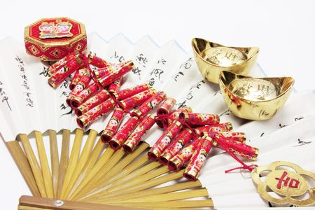 ingots: Gold Ingots, Firecrackers and Chinese Fan