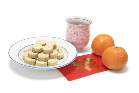 Chinese New Year Snack and Drink Stock Photo - 3712645