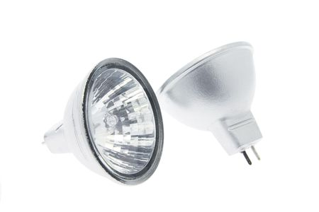 reflector: Reflector Lamps on White Background Stock Photo