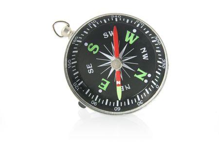 cardinal points: Compass en el fondo blanco Foto de archivo