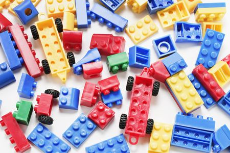 Pieces of Plastic Building Blocks Stock Photo - 3716050