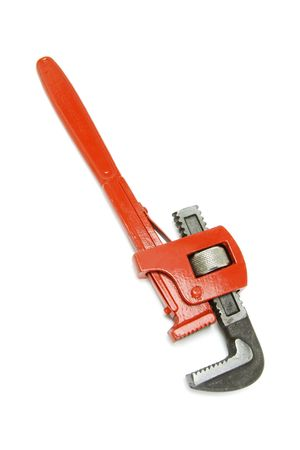Adjustable Spanner on White Background Stock Photo - 3715058