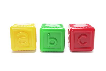 Alphabet blocks on white background Stock Photo - 3715442