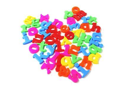 Alphabets in Heart Shape photo