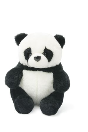soft toy: Soft Toy Panda on White Background