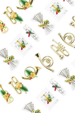 Background of Christmas Miniature Ornaments  Stock Photo - 3716018