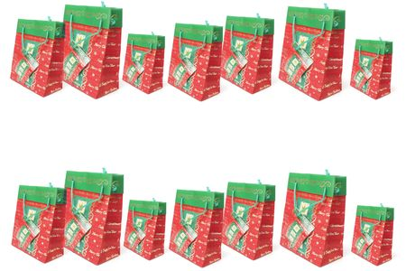 giftware: Christmas Shopping Bags with Copy Space
