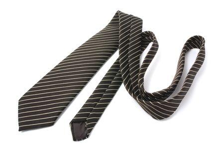 Pinstriped Necktie on Isolated White Background photo