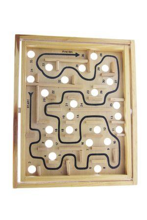 maze game: Maze Game on Isolated White Background Stock Photo