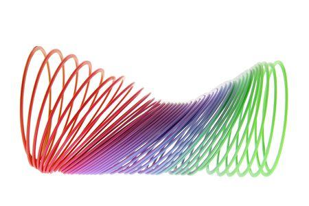 buoyancy: Slinky juguete sobre fondo blanco aisladas