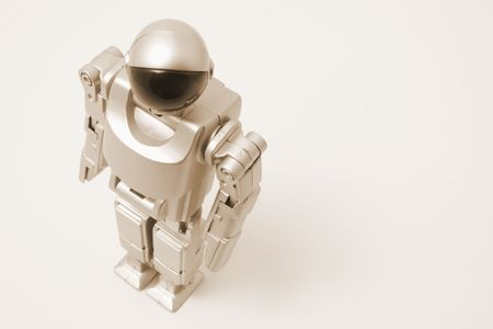 Standing Toy Robot in Warm Tone Stock Photo - 3716316