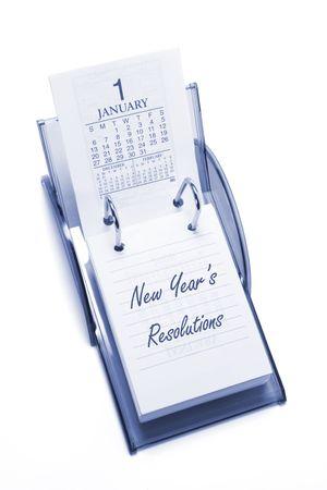 Desktop Calendar on Isolated White Background