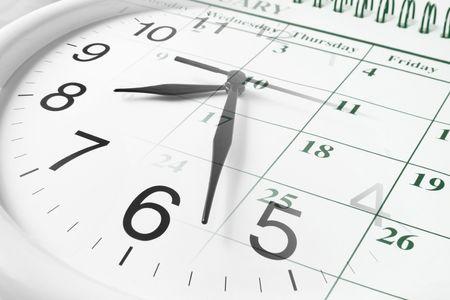stipt: Composiet van de klok en kalender