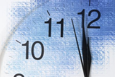 Close-up of Clock Face in Blue Tone Stock Photo - 3779728