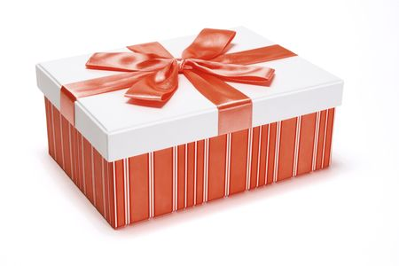 red gift box: Red Gift box on Isolated white background