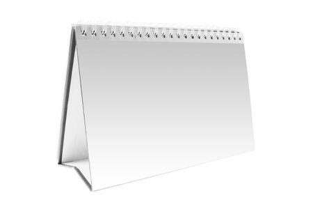 organise: Calendario de escritorio en blanco con copia espacio Foto de archivo