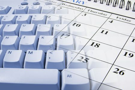 Composite of Keyboard and Calendar