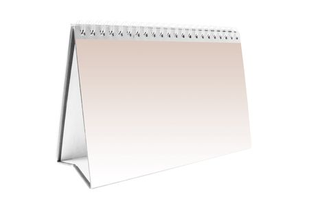 weeks: Desk Calendar on Isolated White Background
