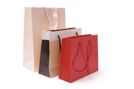 Shopping Bags on Isolated White Background photo