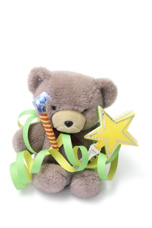 cotillons: Teddy Bear Party Favors avec sur fond blanc