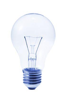 incandescence: Light Bulb on Isolated White Background Stock Photo