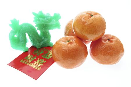 Chinese New Year Products on White Background Stock Photo - 3891635