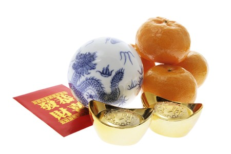 Chinese New Year Products on White Background photo
