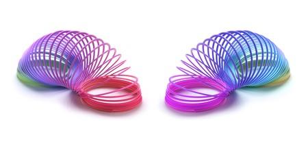 Slinkies on Isolated White Background Stock Photo - 4062530