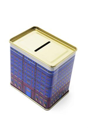 money box: Money Box on Isolated White Background