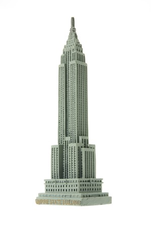 miniatures: Empire State Building Souvenir on White Background Editorial