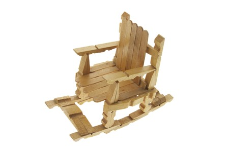 Miniature Rocking Chair on White Background Stock Photo - 4225611