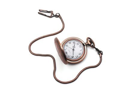 Pocket Watch on Isolated White Background Stock Photo - 4471617