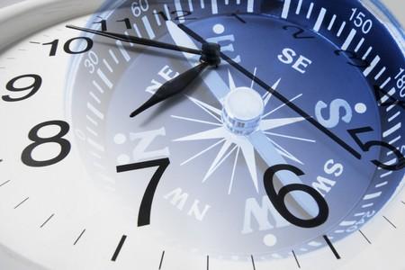 puntos cardinales: Compuesto de reloj y la br�jula