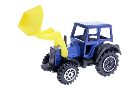 earth mover: Miniature Earth Mover on White Background