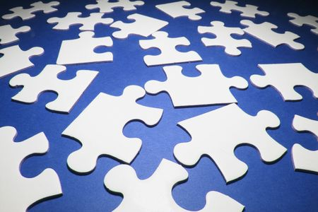 compatibility: Jigsaw Puzzle Pieces on Blue Background