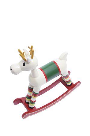 Miniature Wooden Rocking Horse on White Background Stock Photo - 4665726