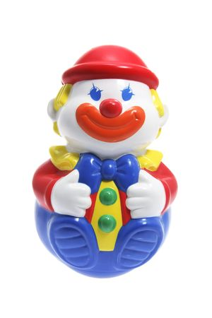 Roly-Poly Toy Clown on White Background photo