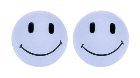 smileys: Smileys on Isolated White Background