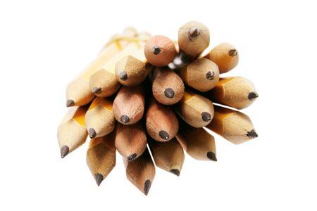 Bundle of Pencils on Isolated White Background photo