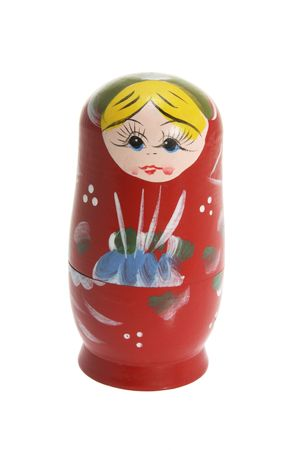 Russian Nesting Doll on White Background photo