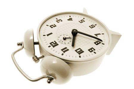 Alarm Clock on Isolated White Background photo