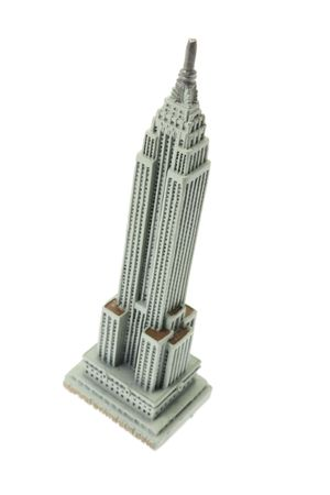 empire state building: Empire State Building Souvenir on White Background Editorial
