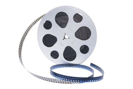 out of production: Film Reel on White Background