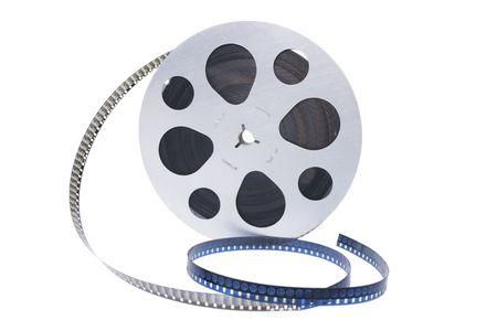carrete de cine: Reel pel�cula en el fondo blanco