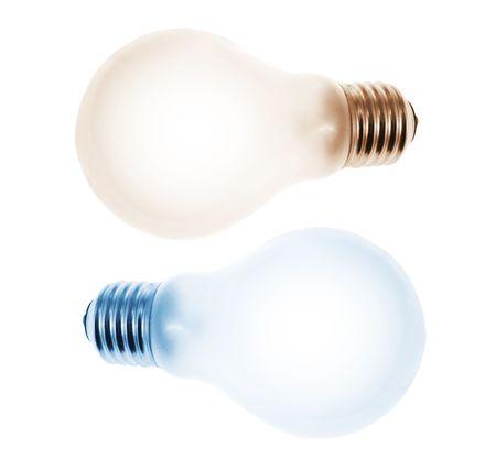 light bulbs: Bombillas de luz de fondo blanco aisladas Foto de archivo